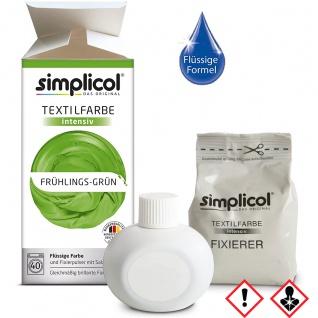 Simplicol Textilfarbe intensiv all in 1 Flüssig Fröhliches Grün
