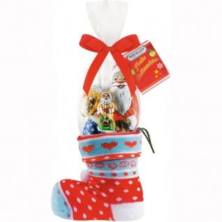 Riegelein Weihnachtssocke Füllung aus Hohlfigur und Schokolade 100g