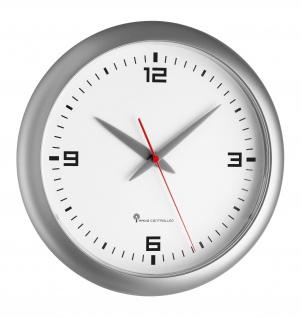 TFA Dostmann Funk Wand Uhr in der Farbe silber und weiß 1 Stück