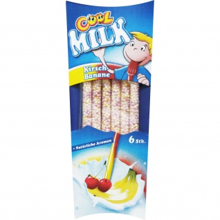 Cool Milk Milch Trinkhalm Kirsch Banane Geschmack Aromaperlen 30g