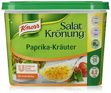 Knorr Salatkrönung Paprika-Kräuter Trockendressing geeignet für Salate 500g