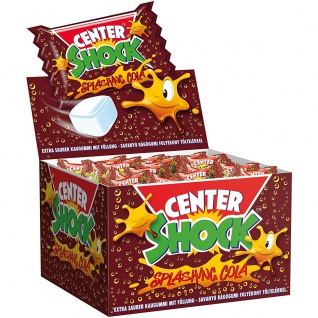 Center Shock Cola extra saurer Kaugummi mit flüssiger Füllung 400g