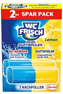 WC Frisch Duo Duftspüler Stein Citrus Nachfüller 2 Stück 5er Pack