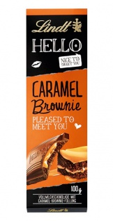 Lindt Hello Caramel Brownie Nice to sweet you Pleased to meet you 100g