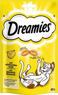 Dreamies mit Käse für Katzen leckerer Snack im Frischebeutel 60g