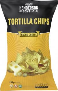 Henderson & Sons Nacho Cheese Tortilla Chips 450g