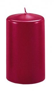 Kerzen Stumpenkerzen Candle kaminrot 80x60mm RAL Qualität 1 Stück