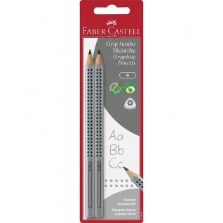 Faber Castell Blacklead Pencils Stift Bleistift Jumbo Grip Silber