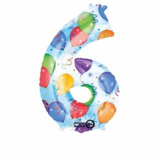 6 Ballons & Luftschlangen