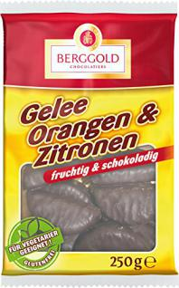 Berggold - Gelee Orangen & Zitronen Schokolade - 250g