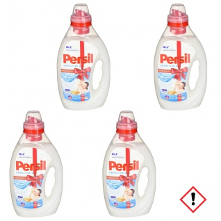 Persil Sensitive Gel Vollwaschmittel Hautverträglich 4er Pack 1000 ml