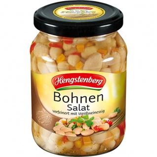 Hengstenberg Bohnen Salat verfeinert mit Weißwein im Glas 370ml
