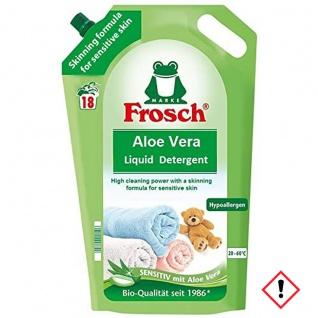 Frosch Aloe Vera Waschmittel vegan Wiederverschließbar 1800ml 5er Pack