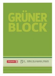 Briefblock DIN A5 Gruen liniert