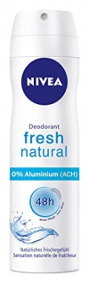 Nivea Deo Fresh Natural Spray, ohne Aluminium, 6er Pack (6 x 150 ml)