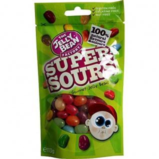 The Jelly Bean Factory Die Supersauren Geleebohnen in einer Tüte 113g