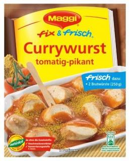 Maggi Fix & Frisch Currywurst, 20er Pack (20 x 40 g Beutel)