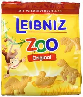 Leibniz knackfrischer hauchzarter Mini Butterkeks Zoo Original 125g 6er Pack