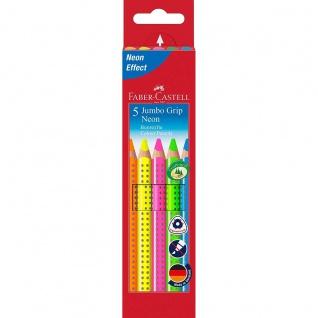 Faber Castell Colour Pencils Farbstift Buntstift Jumbo Grip Neon