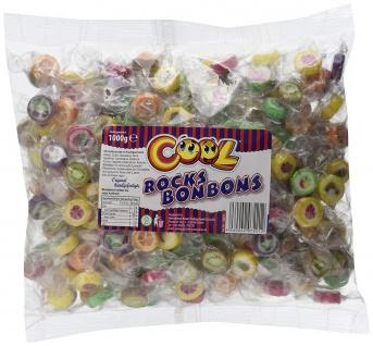Cool Rocks Bonbons Hartkaramelle mit Fruchtgeschmack im Beutel 1000g