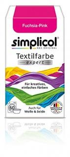 Simplicol Textilfarbe expert Für kreatives Färben 1705 Fuchsia-Pink Neu!