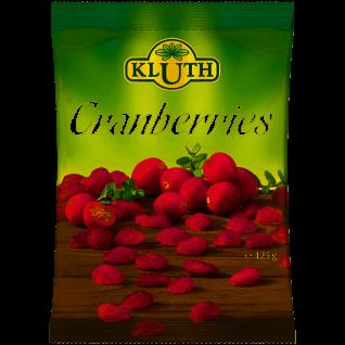Kluth Cranberries getrocknet aromatischer Geschmack 125g 6er Pack