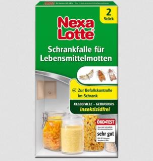 Nexa Lotte Schrankfalle Lebensmittelmotten Insektizidfrei 2 Stück 2er Pack