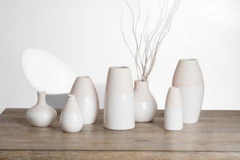 Ritzenhoff und Breker Vase aus der Serie Anna Keramik weiß 10cm - Vorschau 3