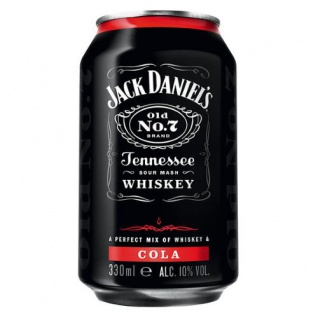 Jack Daniels Cola Tennessee Whiskey Mixgetränk 330ml