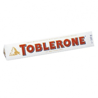 Toblerone White Schweizer weiße Schokolade mit Honig Mandel Nougat 100g