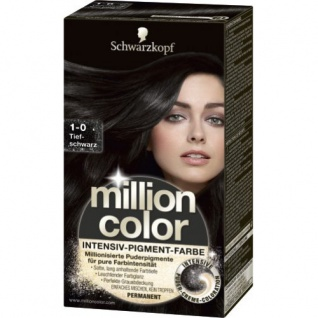 Million Color 1-0 Tiefschwarz Intense Pigment Color Deep Black 126ml