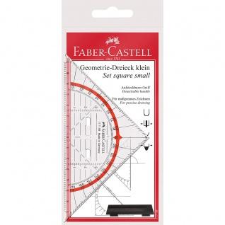 Faber Castell Set square small Geometrie Dreieck mit Griff klein