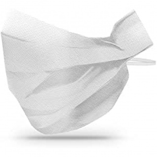 Einweg Mund und Nasenschutzmasken aus PP Vlies Weiss 100 Stück
