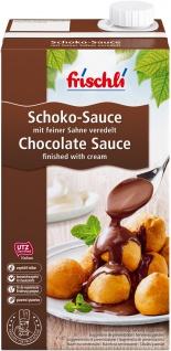 Frischli Schoko-Sauce aus Sahne milder Kakao mit dezenter Süße 1000ml