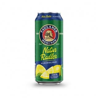 Paulaner Natur Radler Alkoholfrei mit natürlichen Zutaten Dose 500ml