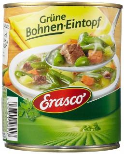 Erasco Grüne Bohnen Eintopf mit Möhren Kartoffeln Rindfleisch 800g 3er Pack