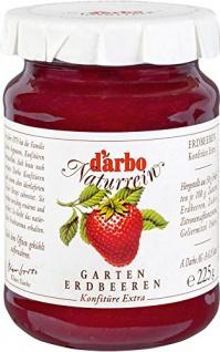 Darbo - Naturrein Garten Erdbeeren Konfitüre Extra süßer Aufstrich - 225g