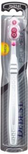 Dr. BEST Polimed Zahnbürste, Mittel, (6 x 1 Stück), Für eine bis zu 49% bessere Reinigungsleistung an schwer erreichbaren Stellen