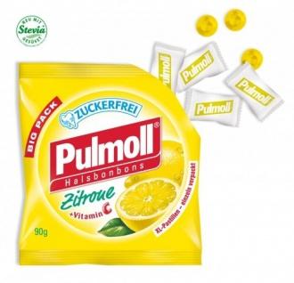 Pulmoll Halsbonbons Zitrone mit Vitamin C und Stevia zuckerfrei 90g