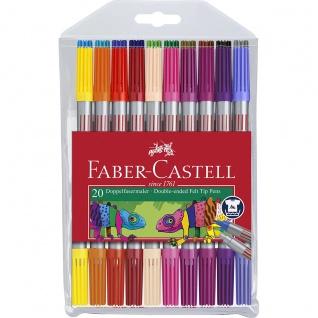 Faber Castell Doppelseitige Filzstifte Doppelfasermaler 20er Etui