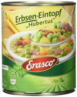 Erasco Erbsen-Eintopf Hubertus, 3er Pack (3 x 800 g Dose)