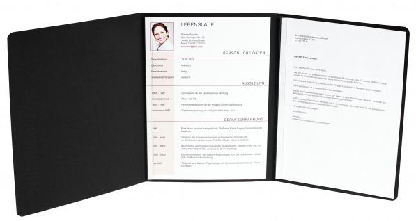 Exacompta 49701B vertikale Prägung Bewerbungsmappe, schwarz