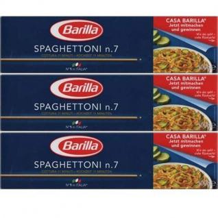 Barilla Nudeln Spaghettoni Nummer 7 Hartweizennudeln 3er Pack
