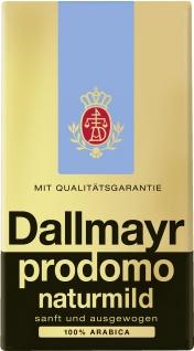 Dallmayr prodomo naturmild Kaffeepulver Arabicia Bohnen 500g