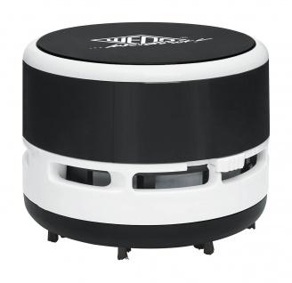 WEDO Mini Tischstaubsauger Abschraubbarer Auffangbehälter Schwarz Weiß