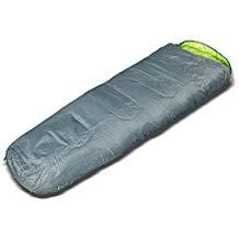 Sunsmile Mumienschlafsack Partnerschlafsack Reißverschluss links grau