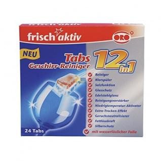 Oro 24x Reiniger-Tabs frisch-aktiv für die Spülmaschine 12in1 Geschirr-Reiniger