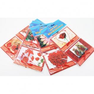 Mini Glückwunschkarten mit Umschlag Geschenk Kärtchen 4er Set