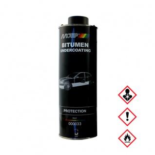 MoTip Unterbodenschutz Bitumen Streichlackdose Schwarz Kfz 1300ml