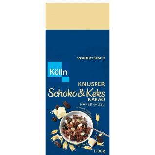 Kölln Schoko und Keks Kakao Hafer Müsli weiße Schoko Kakaokeksen 1700g